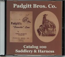 Padgitt Borthers Co. Saddlery & Harness Catalog 100 on CD-Dallas,TX-Broncho Line