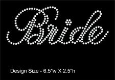 Bride Rhinestone Iron On Transfers