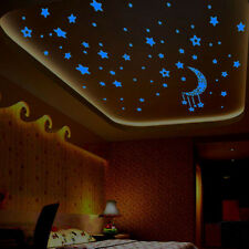 A Set Kids Bedroom Fluorescent Glow In The Dark Stars Wall Stickers1