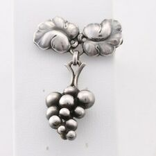 Early Georg Jensen MOONLIGHT GRAPES Sterling Silver Brooch 217A
