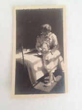 "Vintage Black And White Photo Of A Woman And Baby Walking 2 1/2"" X 4"" Tall"
