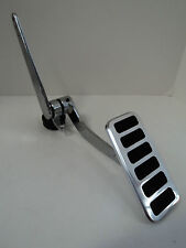 BILLET ALUMINUM GAS THROTTLE PEDAL 6 PAD HOT ROD RAT CHEVY FORD POLISHED SBC 350