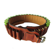 Hunting Shotgun Bandoleer Ammo Holders Cartridge Belts 30 Rounds Leather 12GA