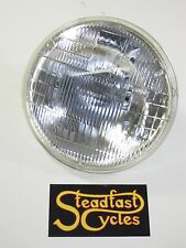 "5 3/4"" motorcycle headlight glass sealed halogen beam lens 12v Triumph BSA"