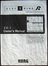 Korg ER-1 Electribe R Rhythm Synthesizer Station Original Owner's Users Manual