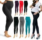 WOMENS MATERNITY LEGGINGS NEW SUMMER COLOURS LADIES OVER BUMP PLUS SIZE MtrLngLg