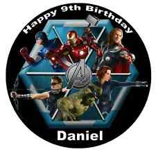 Avengers Marvel Personalised Wafer Paper Topper For Large Cake Various Sizes 7.5