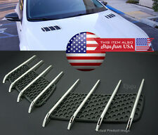 OEM Look Hood Engine Vent Grille Grill Louvered Scoop Insert Kit For Hyundai Kia