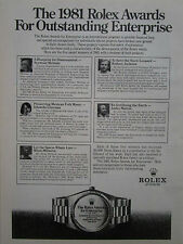 5/1981 PUB MONTRE WATCH ROLEX AWARDS FOR ENTERPRISE ORIGINAL AD