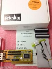 TEKRAM DC-290N PCI Dual Enhance IDE Controller for IDE HDD or ATAPI CD-ROM, NEW