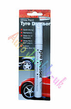 Permanent White Paint Tyre Dresser Marker Water & UV Resistant Quick Drying