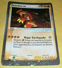 POKEMON PROMO CARD - 002 GROUDON EX (HOLOFOIL) RARE
