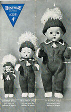"Dolls clothes knitting pattern for 6"", 8"", 10"", 12"", 14 16"" doll. ( V Doll 39)"
