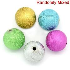 20 ASSORTED ROUND ACRYLIC STARDUST SPACER BEADS~16mm~NECKLACE~BRACELET~CRAFT()