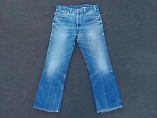 Vintage Levis 517 Boot Cut Denim Jeans Size 34 28 Black Tag Tab Hige Distressed