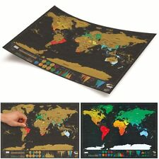 GRANDE Travel Scratch de rascar Map Personalizado Mapa Del Mundo Vacation Logo