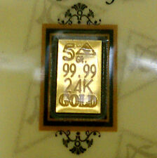 Affordable ACB GOLD 5GRAIN 24K SOLID BULLION MINTED BAR 99.99 FINE Au With COA