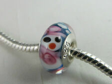 925 STAMPED STERLING SILVER PL XMAS SINGLE CORE MURANO GLASS BEADS EURO BRACLETS