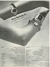 Publicité Advertising 1972 Les Montres Alexis Barthelay