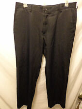 Mens Kenneth Cole Reaction Black 100% Polyester Flat Front Pants 36x32