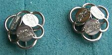 Silver Tone Clip Earrings - Young & Gay - Sarah Coventry Jewelry - Sara Cov  Vtg