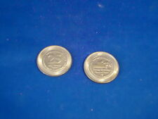 Lot of 2  FORT ERIE RACETRACK GAMING TOKENS casino RARE! Canada Excellent Shape!