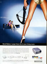"Infocus Screen Play ""Bond Babes"" 2004 Magazine Advert #5322"