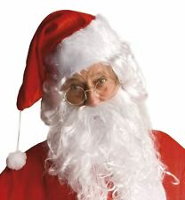 Classic Father Christmas SANTA Round Clear Glasses Gold Rim Retro Fancy Dress