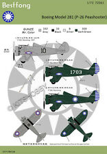 Bestfong Decal 1/72 Boeing 281 (P-26) in WWII China