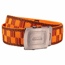 Pattern Belt - Orange And Burgundy Cool Retro Fashion Design