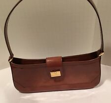 auth SALVATORE FERRAGAMO Small drab olive patent leather Shoulder Bag Clutch