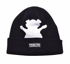 Primitive x Grizzly GripTape Black Bear Fold Cuff Beanie Winter Skate Hat Skully