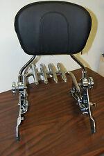 NEW Stealth Luggage rack + Detachable Backrest sissybar for Harley Touring 09