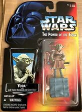 Yoda with Jedi Trainer Backpack & Gimer Stick Power of the Force Red Card #69586