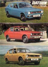 Datsun Nissan Cherry 100A Saloon 1975 UK Market Foldout Sales Brochure L De Luxe