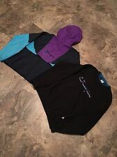 Vintage Champion Spell Out Lot Crew Neck AND jacket!! BOTH!! 2! Rare! Aqua grape