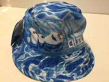 Disney's Frozen Olaf Snowman Chillin Toddler Boys Water Print Bucket Hat NWT