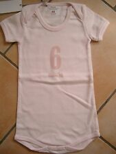 (X149) Imps & Elfs Baby Body Strampler ohne Beine + Druck & Logo Aufnäher gr.68