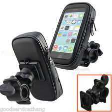 Waterproof Bike Bicycle Motorcycle Phone Case Bag w/ Handlebar Mount Holder