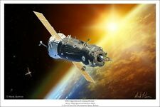 """""""ISS Expedition Coming Home"""" Mark Karvon 30"""" Giclee Print - Soyuz TMA"""