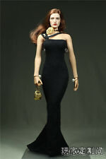 1/6 Scale Customize Clothes Black Pearl Fits Phicen Female Large Bust Figure