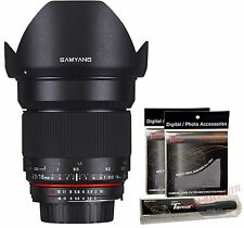 Samyang 16mm F2.0 ED AS UMC CS Wide Angle APS-C Lens for Nikon AE Version DSLR