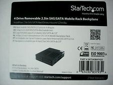 "NEW StarTech 4 Drive Bay Removable 2.5"" SAS/SATA Mobile Rack 5.25"""