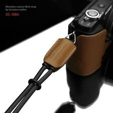 GARIZ Leather Wrist Strap Black Brown XS-WB4 m43 Sony NEX Olympus Lumix Fuji