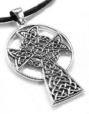 St. Andrew's Sterling Silver Celtic Knot High Cross Pendant Necklace