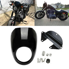 Front Headlight Fairing Cover Cowl Fork Mount For Harley Sportster Dyna FX XL
