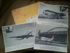1960s United Air Lines Historic Planes 16 Picture Set Org Mail Envelope Aviation