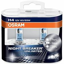 H4 OSRAM NIGHT BREAKER UNLIMITED BULBS UPGRADE FROM PLUS SALE + 110% EXTRA ,New