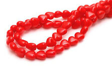 100 Opaque Red Heart Czech Glass Beads 6MM
