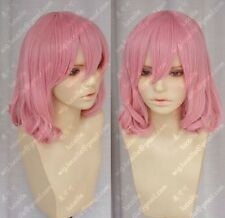 Hot Sell!! New Short pink Fashion Cosplay Party Curly Wigs~Free Shipping ###